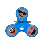 Fidget Spinner Fosforescent Smiley Albastru