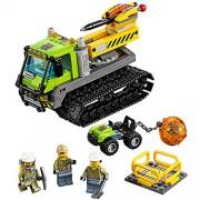 Lego Year 2016 City Series Set #60122 - VOLCANO CRAWLER with Jackhammer