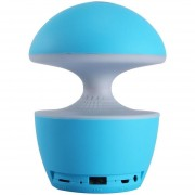 Louiwill Magic Mushroom Mood Light Con Altavoz Bluetooth, Kobwa Desk Lamp Touch Control Recargable 3 Cambios De Color Tarjeta TF / Música Estéreo / Radio FM - Azul, Caja Pocked