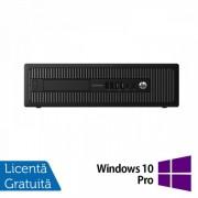 Calculator HP Prodesk 600G1 SFF, Intel Core i3-4130 3.40GHz, 8GB DDR3, 500GB SATA, DVD-RW + Windows 10 Pro