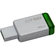USB DRIVE, 16GB, KINGSTON Data Traveler 50, USB3.0, Metal/Green (DT50/16GB)