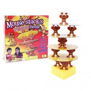 ELECTROPRIME Kids Plastic Stacking Balancing Game Set Mouse Stacks Cheese Family Fun Toy