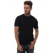 Giorgio Armani T-shirt girocollo Nero Cotone Uomo