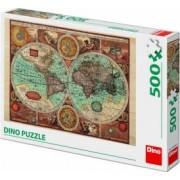 Puzzle Dino Toys Harta lumii din 1626 500 piese Multicolor