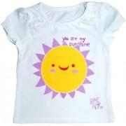 Tricou fete pictat manual, 3-6 luni, You are My Sunshine