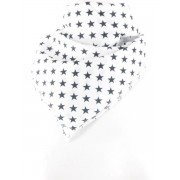 Witte bandana/boerenzakdoek met sterren