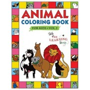 Animal Coloring Book for Kids with The Learning Bugs Vol.2: Fun Children's Coloring Book for Toddlers & Kids Ages 3-8 with 50 Pages to Color & Learn t, Paperback/The Learning Bugs