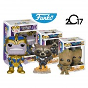 Set 3 Thanos, Groot Y Rocket Funko Pop Pelicula Guardians Of The Galaxy