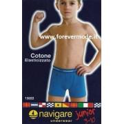Navigare 6 Boxer bambino Navigare in cotone con elastico esterno loggato