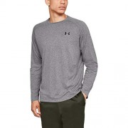 Under Armour Men's Tech Long sleeve Shirts, Charcoal Light Heath (019)/Black, Large