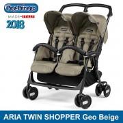 Peg Perego silla gemelar Aria Shopper Twin Geo Beige 2018