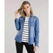Yessica Camisa Jeans Azul Médio