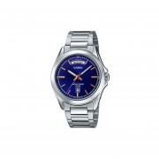 Reloj Analógico Hombre Casio MTP-1370D-2A - Plateado con Azul