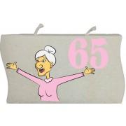 65 vrouw golfkaars