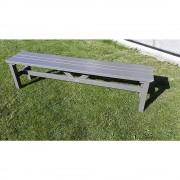 Außenmöbelserie VIKING Sitzbank grau, Länge 1900 mm