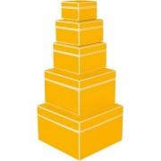 Semikolon Pudełka prezentowe Die Kante 5 szt. żółte