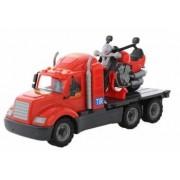 Camion de remorcare Wader 55682 rosu + motoreta