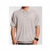 camisa con cuello de mangas cortas de estilo ocio y comodo de color en gris