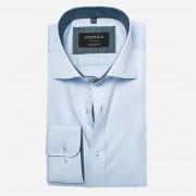 STEVULA Svetlomodrá košeľa z popelínu, Regular fit Veľkosť: L 41/42