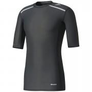 adidas Men's TechFit Climachill T-Shirt - Black - XS - Black