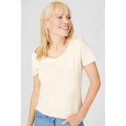 C&A Basic-T-shirt-biokatoen, Beige, Maat: XS