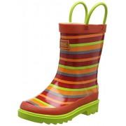 5 UK, Orange (TrlBlz/LimeZ) : Regatta Minnow Jnr Welly, Unisex Kids' High Rise Hiking Boots