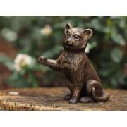 Statuie de bronz moderna Sitting kitten