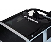 SPIDERWEBSHADE Jeep Wrangler JKini Mesh Shade Top Sunshade UV Protection Accessory USA Made with 5 Year Warranty for Your JK 2-Door and JKU 4-Door (2007-2017) in Black