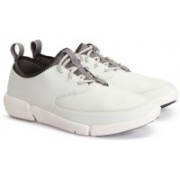 Clarks TRIFLOW FORM WHITE LEATHER Sneakers For Men(White)