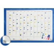 Planner anual vertical 90 x 120 cm profil aluminiu SL SMIT benzi magetice incluse