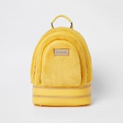 River Island Womens Yellow mini faux fur backpack (One Size)