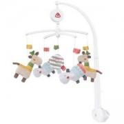 Музикална въртележка за бебешко легло babyFehn, хипопотам, 263896