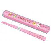 1 X [Hello Kitty] Pull lid Chopstick Set