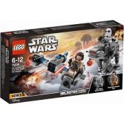 Ski Speeder vs First Order Walker microfighter Lego