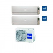 HAIER Condizionatore nebula White Dual Split Inverter 7+7 7000+7000 Btu A++ Wi-Fi 2u14cs4era