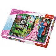 Puzzle clasic pentru copii - Frumoasa din padurea adormita, 200 piese