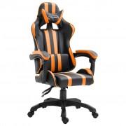 vidaXL Геймърски стол, оранжев, полиуретан