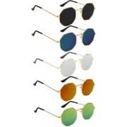 SRPM Retro Square Sunglasses(Black, Blue, Silver, Yellow, Green)