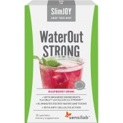 WaterOut Strong - najszybszy efekt wyszczuplający. Malinowy napój. 10 saszetek