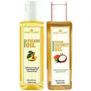 Premium Avocado oil and Virgin Coconut oil combo pack of 2 bottles of 100 ml(200 ml)