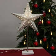 Standing light Star in silver and white