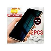 2pcs xiaomi protecteur d'écran xiaomi mi 10 lite 5g / mi 9t / mi 8 se / mi 10 jeunesse / mi cc9 / mi10 pro protecteur d'écran avant haute définition (HD) écran de confidentialité en verre trempé