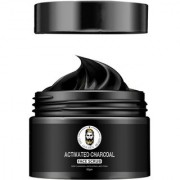THE GOLDEN BEARD - Activated Charcoal Face Scrub for Dead Skin Cells Blackheads Deep Cleansing Exfoliating - 50GM