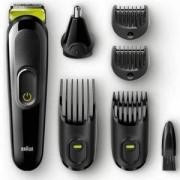 Тример за лице и коса Braun MGK3021, с акумулаторна батерия, 4 гребена, приставка за нос и уши