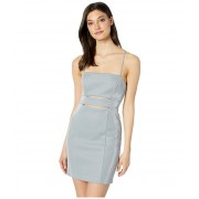 BCBGeneration Cocktail Cut Out Bodycon Knit Dress Silver