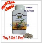Organic Turmeric 500 Capsules Premium Thai Brand Abhaibhubejhr