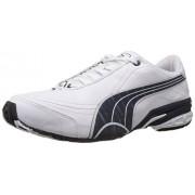 Puma Men's Tazon II DP White, New Navy and Puma Men's Silver Running Shoes - 6 UK/India (39 EU)