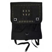 Plecak wojskowy, czarna kostka z ćwiekami CZASZKI W HEŁMACH