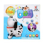 BabyGo Cute Dancing Dog Toy with Reflected 3D Lights & Wonderful Music for Kids, Battery Operated, Multi Color