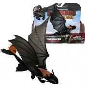Spin Master Dragons - Action Game Set Dragon Toothless Night with Movable Wings